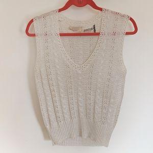 Vintage Bergdorf Goodman Metallic Sweater Vest